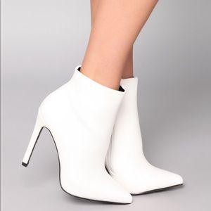 Fashion Nova White Booties